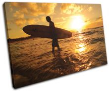 Surfer Sunset Seascape - 13-0962(00B)-SG32-LO